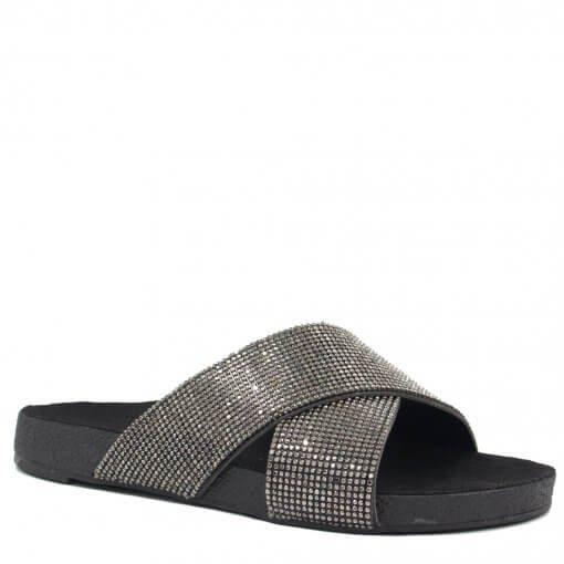 6d96e2d1ea Rasteira Zariff Shoes Birken Strass 108011