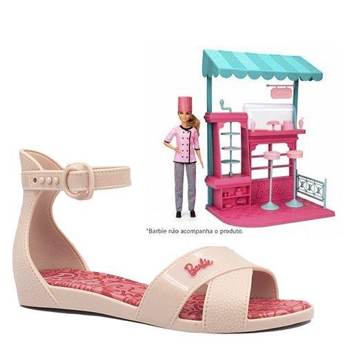 ca2ca26cc Sandália Infantil Barbie Confeitaria 21921