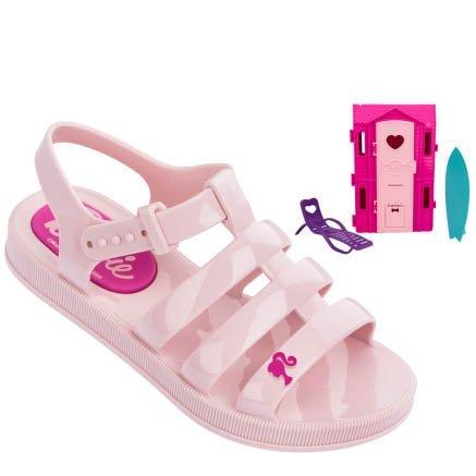 560cf76d64 Sandália Infantil Grendene Barbie Casa de Praia 21832