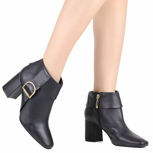 Bota Jorge Bischoff Couro Ankle Boot
