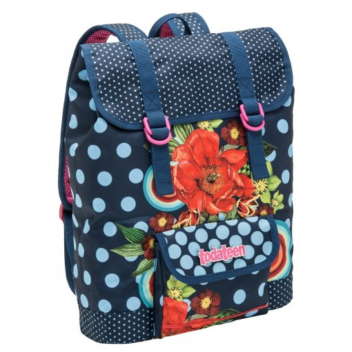 Mochila Pacific Todateen Floral Azul