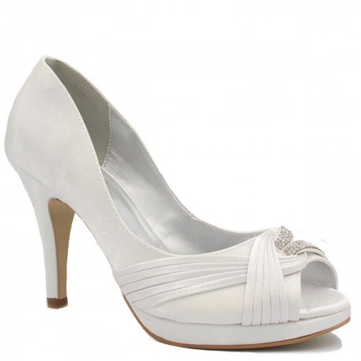 5ac7a7cc7c Sapato Noivas Zariff Shoes Peep Toe Salto 2077ZRF
