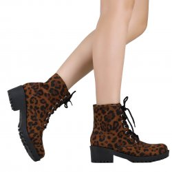 Imagem - Bota Zariff Shoes Coturno Animal Print