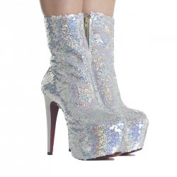 Bota Zariff Shoes Glitter Salto Alto