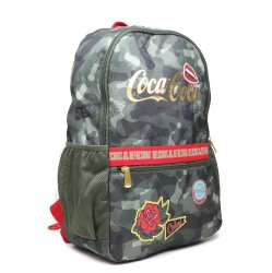 Mochila Coca-Cola Militar Patches