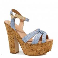 ea01d2dd33 Sandália CS Club Plataforma Bico Aberto Jeans