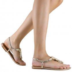 f86606e60 Sandália Zariff Shoes Rasteira Pedrarias