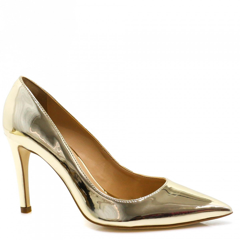 8b52f1cd4 Sapato Cecconello Scarpin Metalizado
