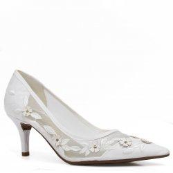 44f6d8066 Sapato de Noivas Vizzano Scarpin Salto Fino
