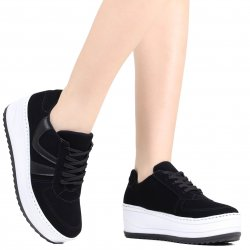 7b050f76ce Tênis Via Marte Flatform Black and White 19-4953