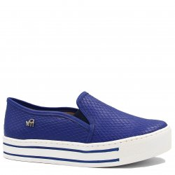 Tênis Via Marte Flatform Slip On Croco 18-18205