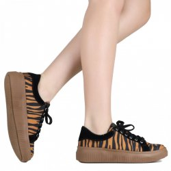 Imagem - Tênis Zariff Shoes Casual Animal Print