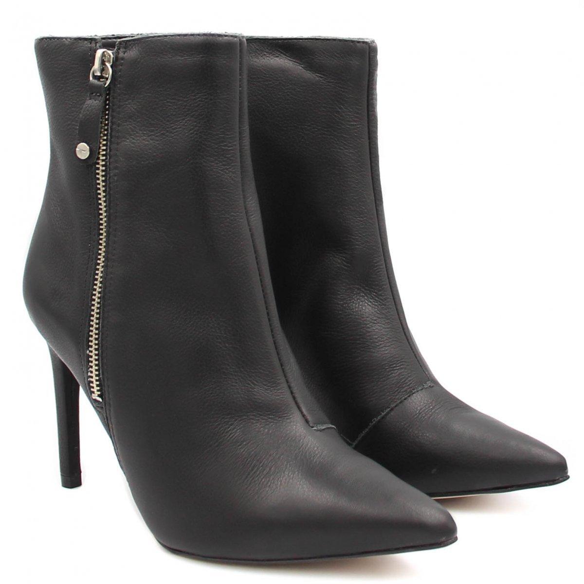 608687099 Bota Cano Curto Tanara Ankle Boot Salto Alto T2281 | Betisa