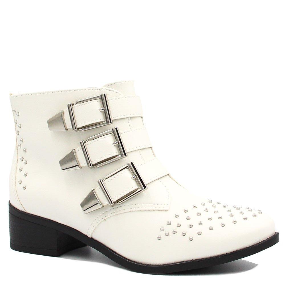 cefbfd2a0866a Bota Cano Curto Via Marte Ankle Boot Fivelas 18-4603