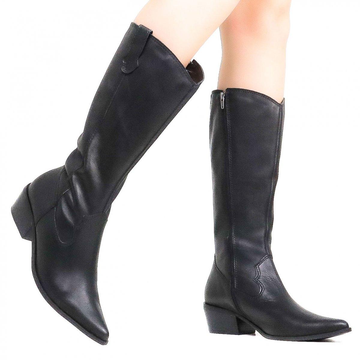 cabf4bb73f0 Bota Zariff Shoes Montaria Couro Western