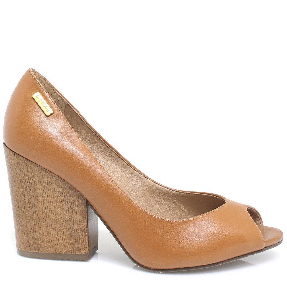 3aa1f21bf7 Sapato Dumond Peep Toe em Couro 4112190