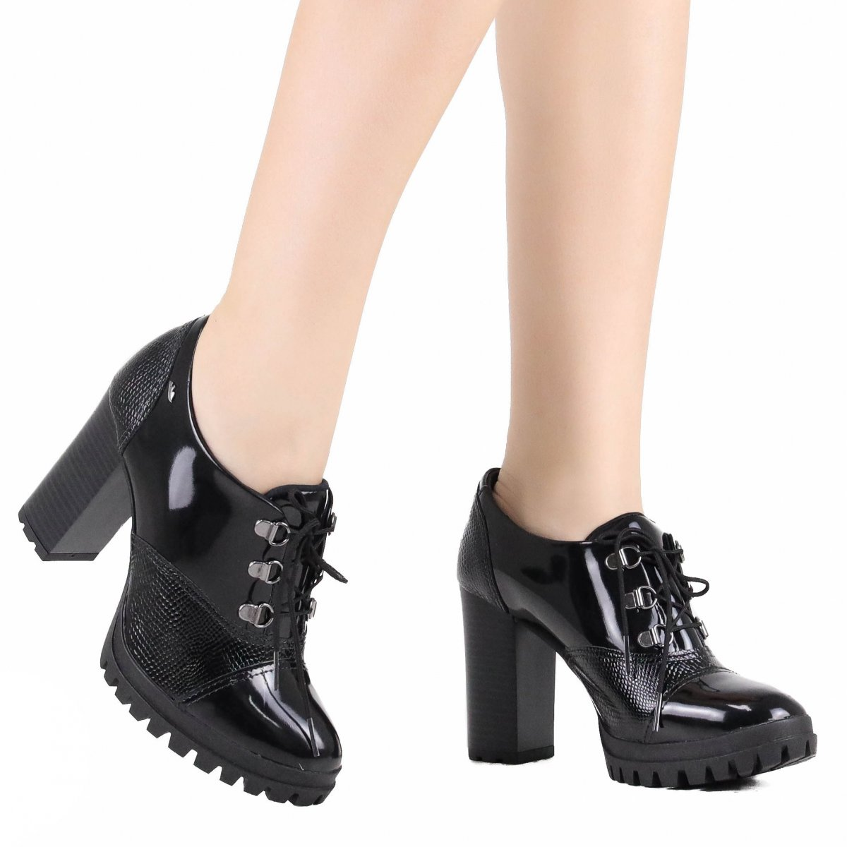 e7fab674b4 Sapato Dakota Oxford Salto Alto