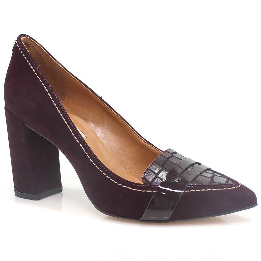 c84ce0dc02 Sapato Jorge Bischoff Scarpin em Camurça 41124002
