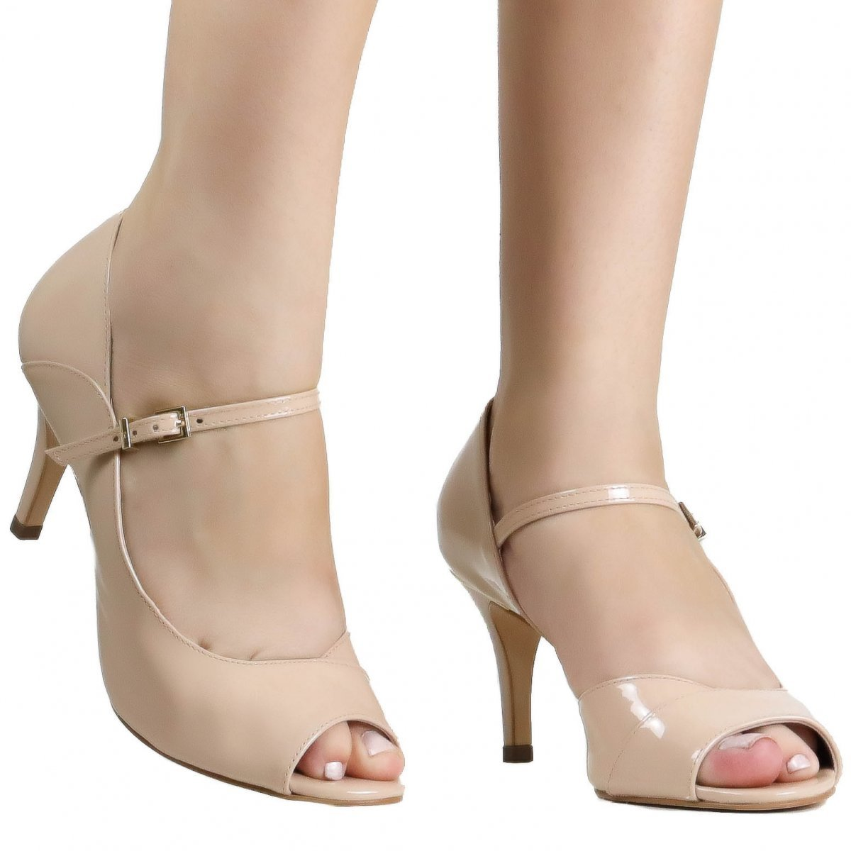 088b98651f Sapato Jorge Bischoff Peep Toe Verniz Croco