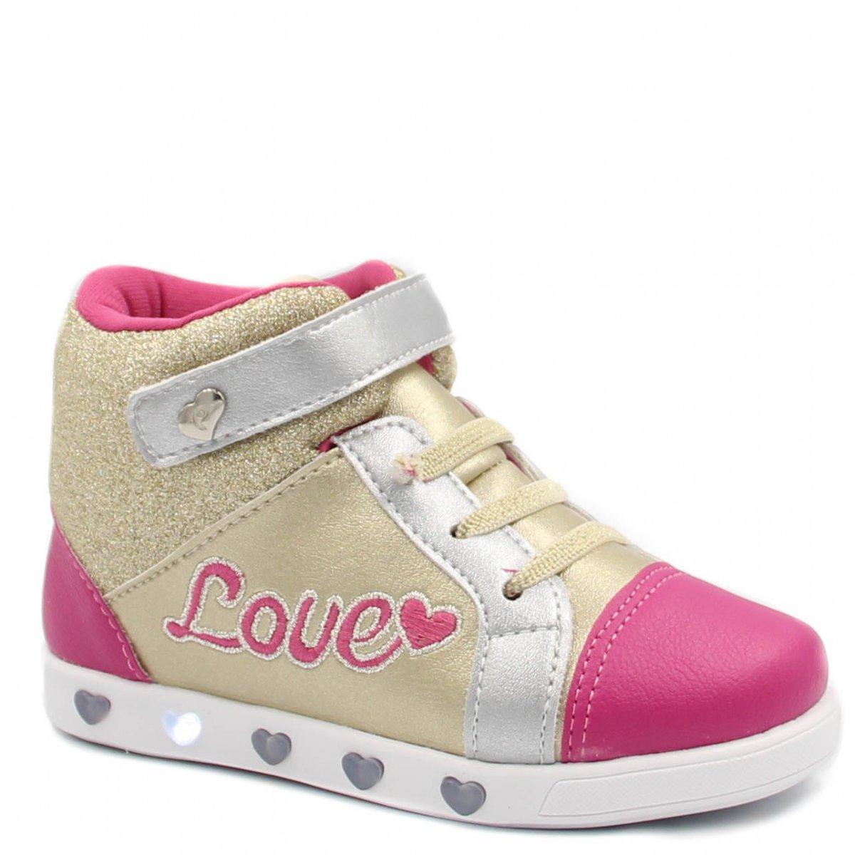 4ac8df20e31 Tênis Infantil Pampili Sneaker Luz Led 165044